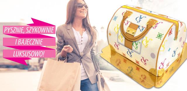 Torty w kształcie luksusowej torebki