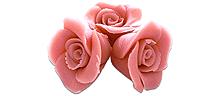 Różowe róże marcepanowe 12 sztuk