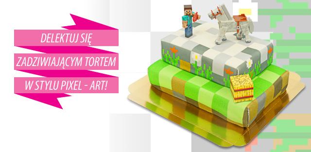 Minecraft na Twoim torcie!