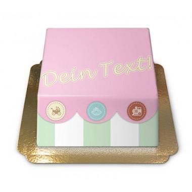 Tort pudełko z zabawkami dla niemowląt
