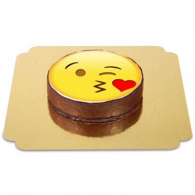 Tort czekoladowy z  emotikonką - buziak