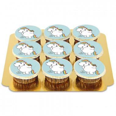 Niebieskie babeczki z jednorożcem Pummel
