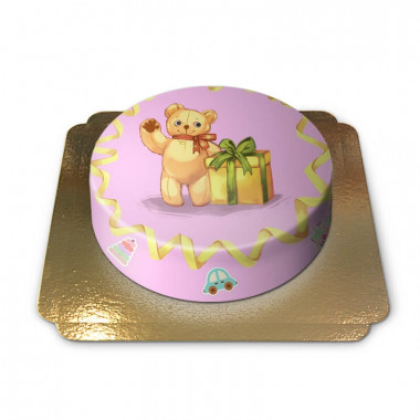 Tort z panią miś
