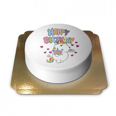 Tort jednorożec Pummel Happy Birthday