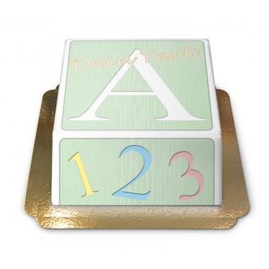 Tort- pudełko z zabawkami dla dzieci