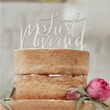 "Ozdoba na tort  ""Just Married"""