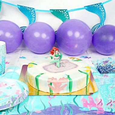 Zestaw imprezowy syrenka - z tortem