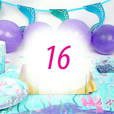 Zestaw imprezowy syrenka dla 16 osób - bez tortu