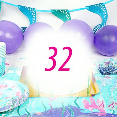 Zestaw imprezowy syrenka dla 32 osób - bez tortu
