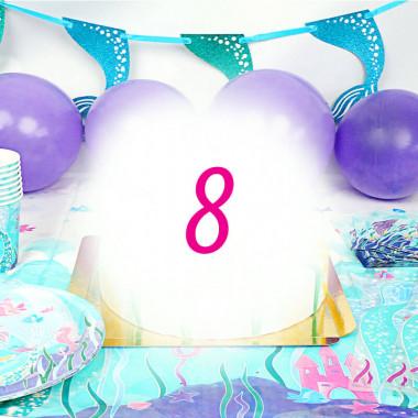 Zestaw imprezowy syrenka dla 8 osób - bez tortu