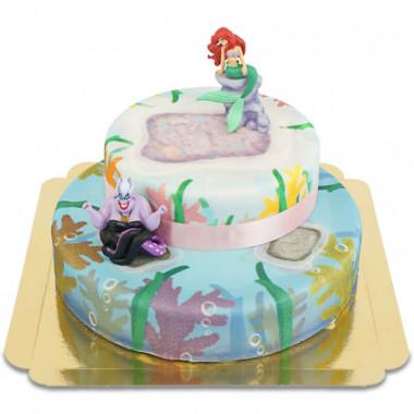 Mała Syrenka dwupiętrowy tort