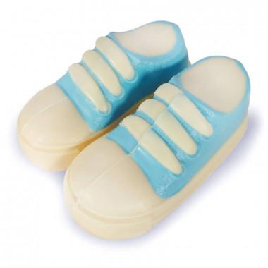 Niebieski czekoladowy dziecięcy bucik
