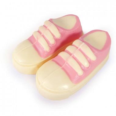 Różowy czekoladowy dziecięcy bucik