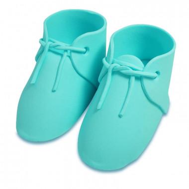 Cukrowe buty dziecięce w kolorze niebieskim