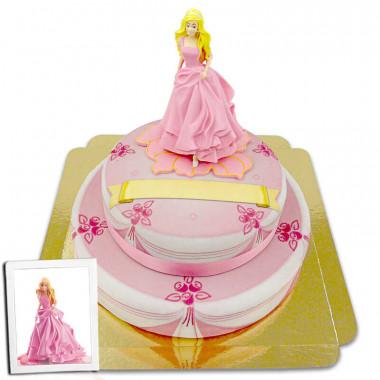 Barbie na dwupiętrowym torcie scenicznym