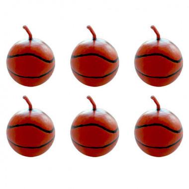 Świeczki na tort - Piłki do koszykówki (6 sztuk)