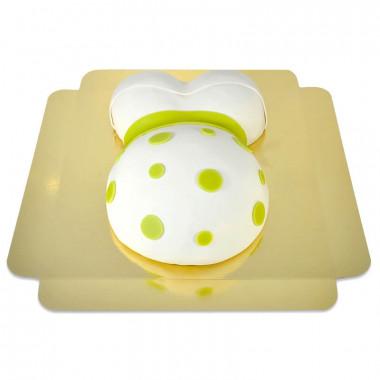 Tort brzuszek z zieloną wstążką