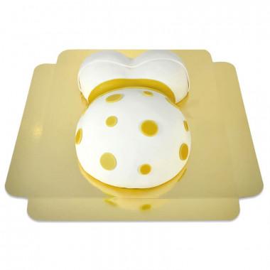 Tort brzuszek z żółtą wstążką