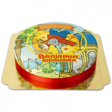 Tort ze Słoniem Benjaminem i Kangurem