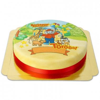 Tort ze Słoniem Benjaminem w zoo