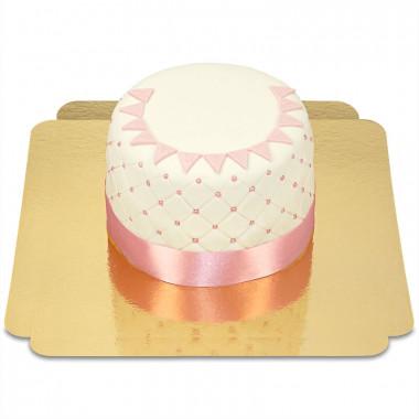 """Tort Deluxe """"Happy Birthday"""" - różowy - podwójna wysokość"""