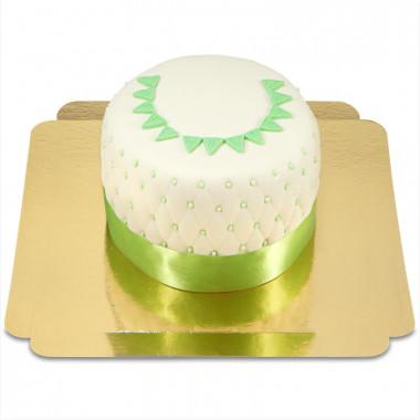 Tort Happy Birthday Deluxe - zielony - podwójna wysokość