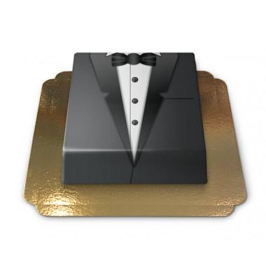 Tort Pana Młodego - czarny smoking