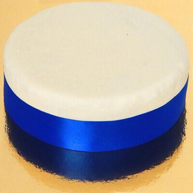 Szeroka wstążka tortowa, niebieska