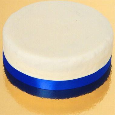 Wąska wstążka tortowa, niebieska