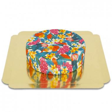 Niebieski tropikalny tort