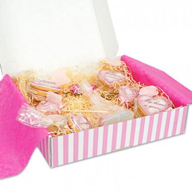 Walentynkowe pudełko-prezent- różowe