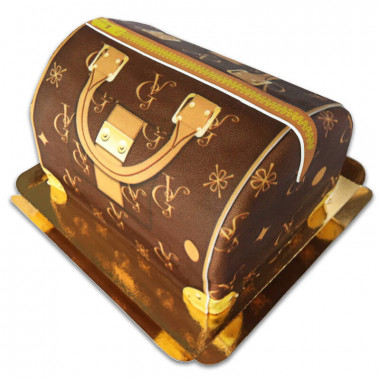 Tort w kształcie torebki VG, brązowy
