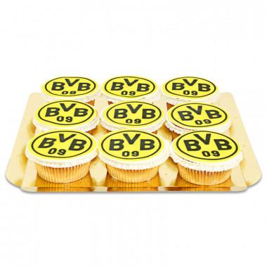 BVB - babeczki z logo Borussia Dortmund, 9 sztuk