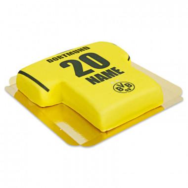BVB - żółty tort w kształcie koszulki piłkarskiej