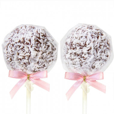 Bezglutenowe Cake-Pops z wiórkami kokosowymi (12 sztuk)