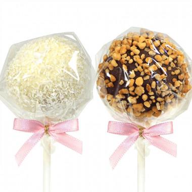 Cake-Pops, orzech laskowy & wiórki kokosowe (12 sztuk)