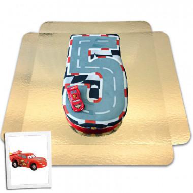 Auta - Tort w kształcie cyfry - Nr. 5