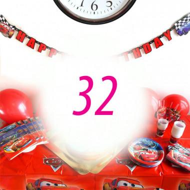 Auta Partyset dla 32 dzieci - bez tortu