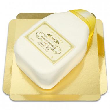Tort w kształcie szampana - biały