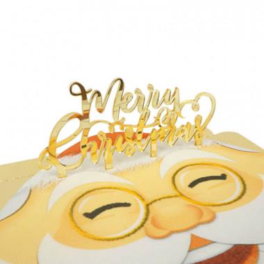 Ozdoba na tort - Merry Christmas