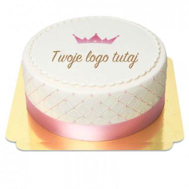 Tort Deluxe z logo - podwójna wysokość