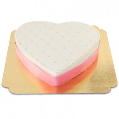 Tort walentynkowy - różne kolory