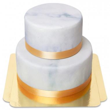 Dwupiętrowy marmurowy tort Deluxe