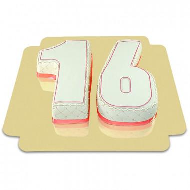 Podwójny Delux tort liczbowy, różne kolory