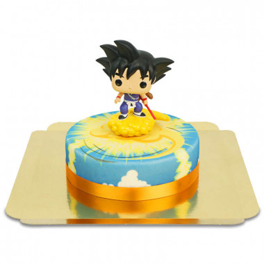 Mały Son Goku na chmurce Kinto tort Dragon Ball