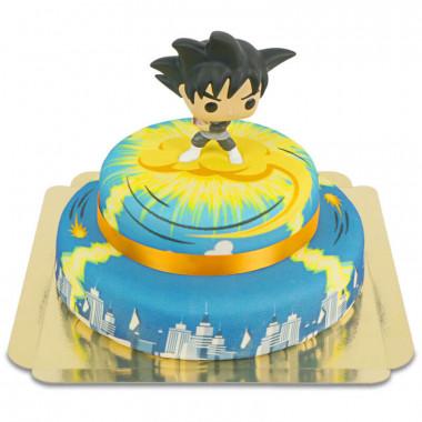 Goku Black na dwupoziomowym torcie