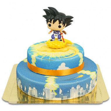 Mały Son Goku na chmurce Kinto 2-piętrowy tort Dragon Ball