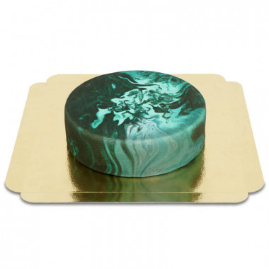 Ciemny tort marmurowy