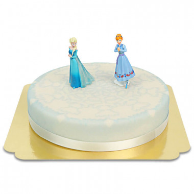 Księżniczka Elsa na zimowym torcie