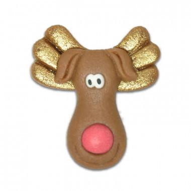 Świąteczny renifer z marcepanu